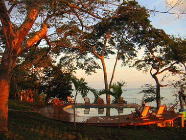 Relax by the pool at Hotel Cala Mia in Panama. The 11 room botique hotel is for those visitors who wish to get awayy fom the crowds in Panama.