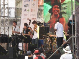 Young musicians take the stage in Casco Viejo at Panama Jazz Fest 2012