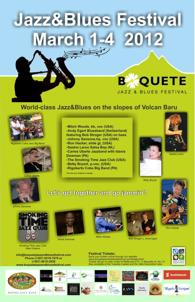 Poster for Boquete Jazz and Blues Festival 2012