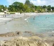 Sunny beach in Coronado, Panama