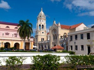 A view of the town square in Casco Viejo Panama