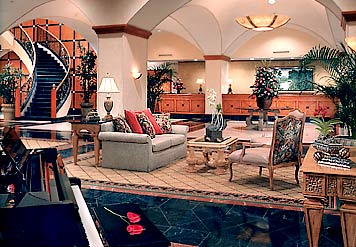 The Luxurious Panama Marriott Hotel Lobby