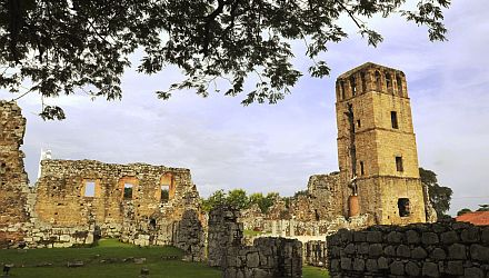 The ruins of the old city of panama, otherwise known as Panama Viejo