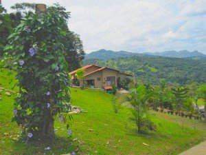 View from Casa Mariposa in Santa Fe, Panama