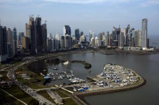 Panama City, Panama has numerous modern high rises that have spectaular views of Panama Bay