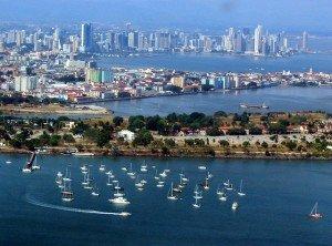 Beautiful Panama City, Panama from the sky