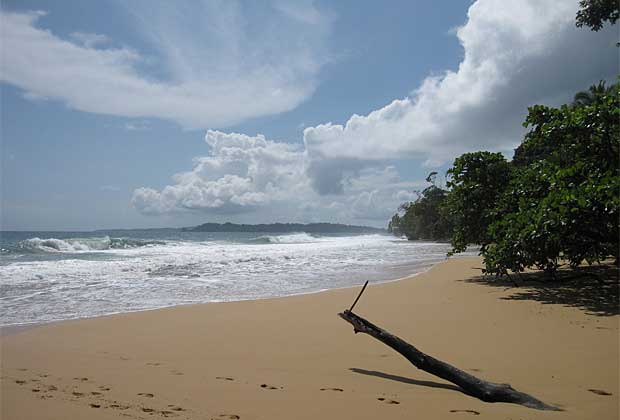 Beautiful Sandy beach in Bocas Del Toro, Panama