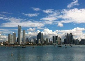The Skyline of Panama City, Panama.