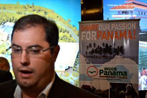 Ernesto Orillac, Vice Minister of Tourism for Panama meets the press at MITM Americas