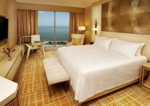 A room at the recently opened Waldorf Astoria Panama in Panama City. (Waldorf Astoria Hotels & Resorts)