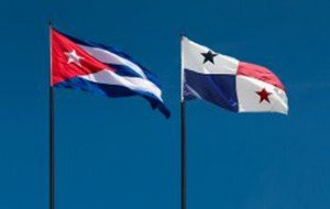 cuba panama flags