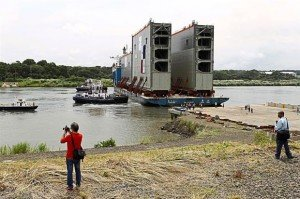 New Panama Canal lock gates.