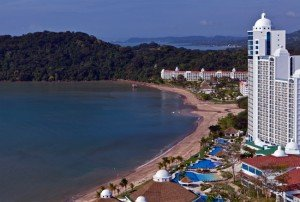 The $100 million Westin Playa Bonita has six restaurants, three freshwater pools, four bars, 611 luxury rooms, and an open-air VIP lounge on the 19th floor with views of the Pacific Ocean, rainforest and Panama Canal