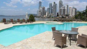 The Bahia Pacifica building in the Punta Pacifica neighbourhood of Panama City includes a four-bedroom, four-bathroom, 445-metre apartment for $1,250,000 (U.S.). (Panama Equity Real Estate)